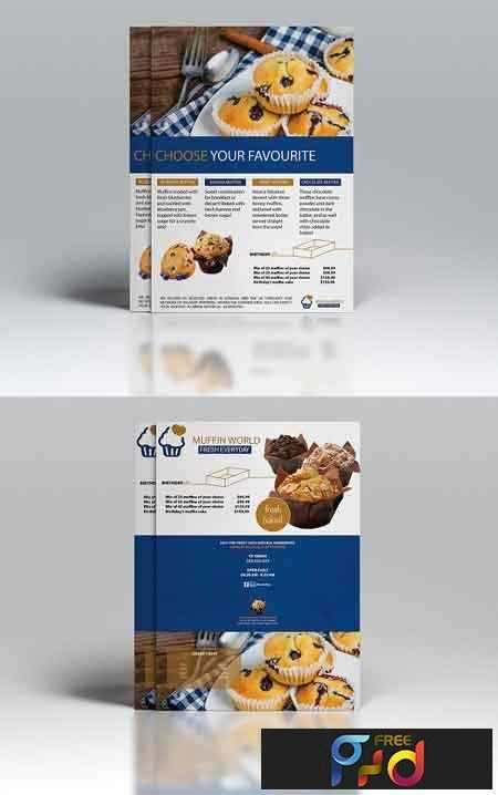 1807082 Muffin World A5 Flyer Template 2556036 Free Download
