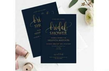 1807083 Navy Gold Bridal Shower Invitation 2555694 3