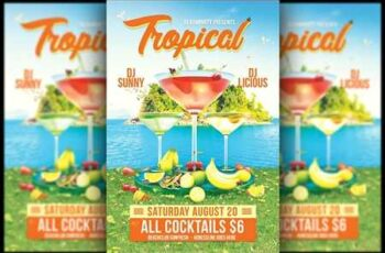 1807087 Tropical Cocktail Flyer 2555924 8