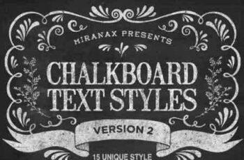 1807102 New Chalkboard Text Effects Vol.2 9835020 2