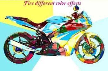 1807118 Color Block Effect Photoshop Action 22025134 2