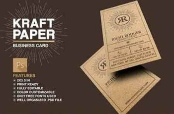 1807137 Kraft Paper Business Card Bundle 4