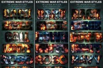1807144 Extreme War Layer Styles Bundle 6