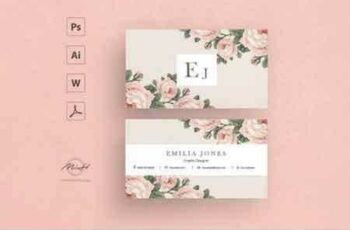 1807150 Roses business card template 2543415 6