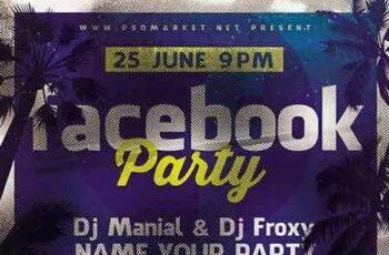 1807158 Facebook Party Flyer – PSD Template 6