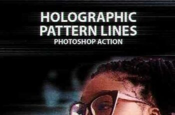1807162 Holographic Pattern Lines Photoshop Action 22082530 5