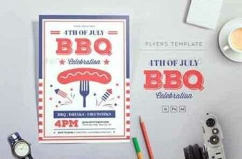 1807163 4th of July BBQ Flyers 22100663 16