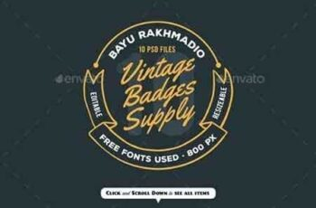1807169 10 Vintage Badges Drawing 20492617 8