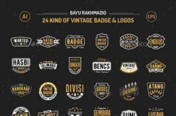 1807173 24 Vintage Badges 20519802