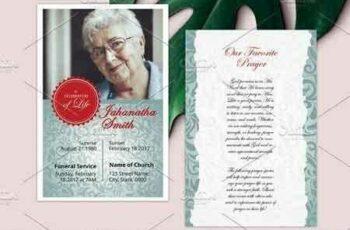 1807189 Funeral Prayer Card - V04 2584858 7