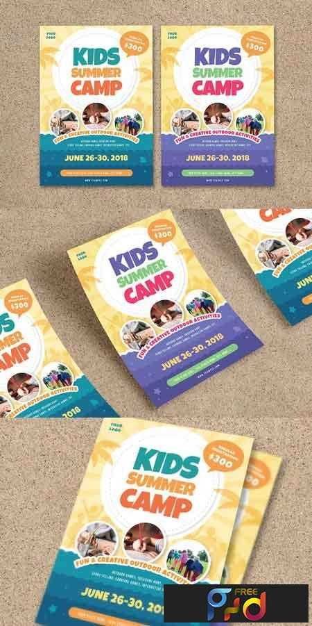 1807192 Kids Summer Camp Flyer 2606904 Freepsdvn