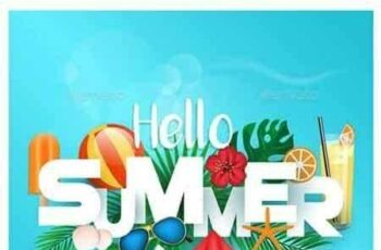 1807197 Hello Summer Typographic 22121111 7