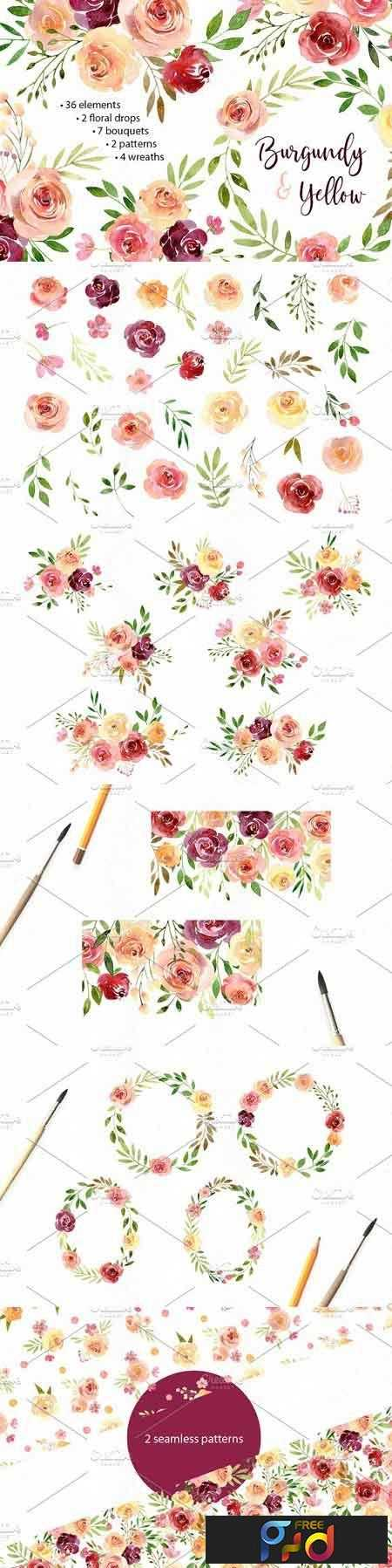 1807204 Watercolor Flowers Arrangements PNG 2583222 1