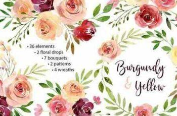 1807204 Watercolor Flowers Arrangements PNG 2583222 7