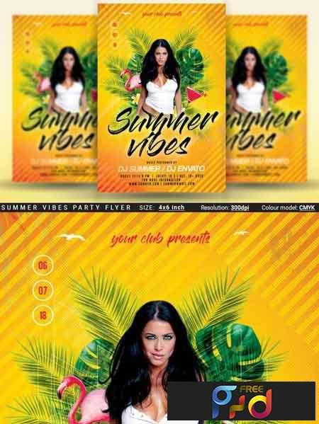 1807218 summer vibes party flyer 3462780 freepsdvn