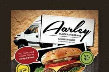1807237 Food Truck Menu Flyer + Business Card 12820254 7