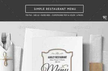 1807239 Simple Restaurant Menu 17165297 5