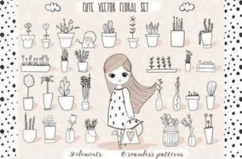 1807247 Cute Vector Pots and Patterns 16655 3