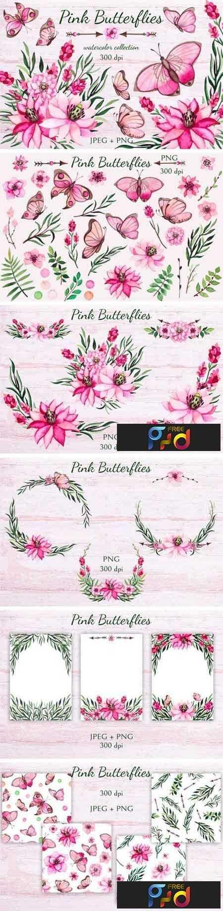 1807252 Pink Butterflies 99266 1