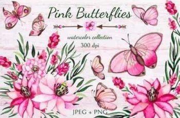 1807252 Pink Butterflies 99266 8