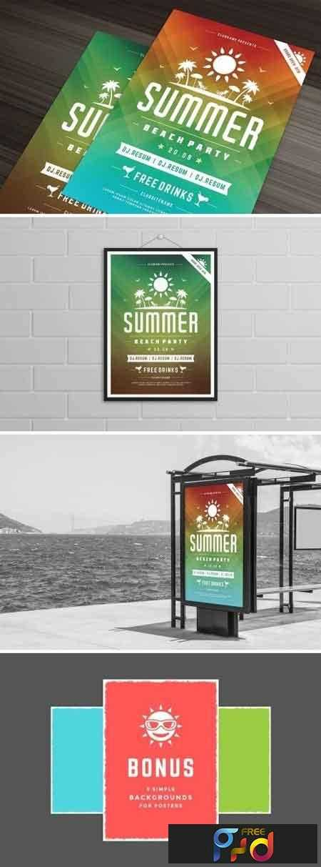 1807262 Summer Beach Party Flyer Template 1452407 Free Download