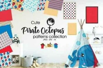 1807265 PIRATE OCTOPUS Pattern collection 2030072 4