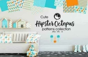 1807268 HIPSTER OCTOPUS Pattern collection 2030067 2