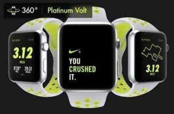 1807281 340Apple Watch Nike Platinum Mockups 1577452 6