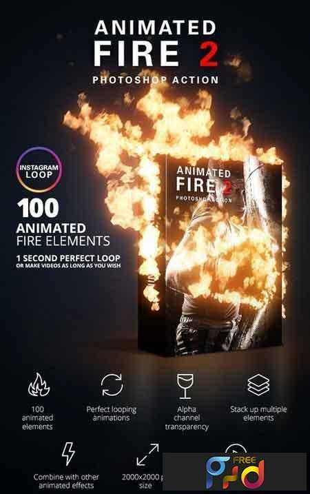 1807285 Animated Fire 2 Photoshop Action 22082311 1