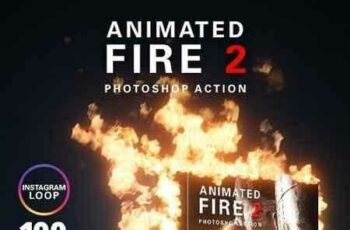1807285 Animated Fire 2 Photoshop Action 22082311 2