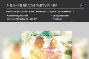 1808013 Summer Beach Party Flyer 22025409 3