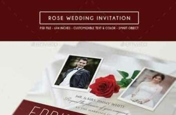 1808029 Rose Wedding Invitation & RSVP 15578474 2