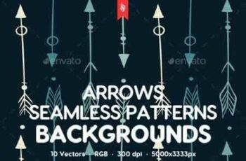 1808036 Hand Drawn Arrows Seamless Patterns Backgrounds 21877035 8