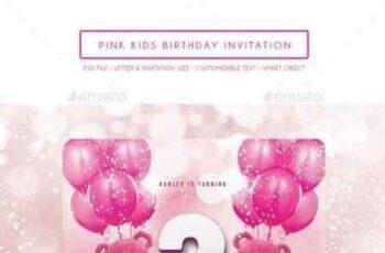 1808041 Pink Kids Birthday Invitation 14155317 7