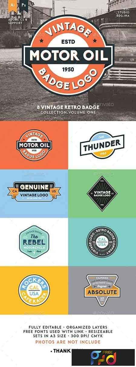 1808063 8 Vintage Retro Badge 15829348 1