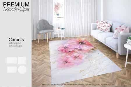 1808076 Carpets in Living Room Mockup Set 3466247 - FreePSDvn