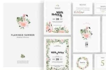 1808080 Flamingo Summer Wedding Invitations 2709408 7