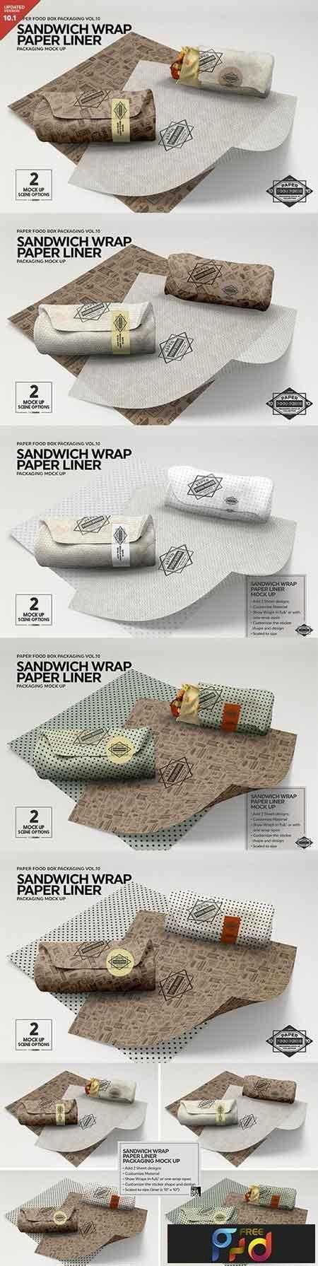 1808116 Wrap Sandwich Burrito Paper Liner Mockup 3448543 1