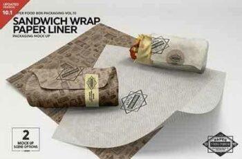 1808116 Wrap Sandwich Burrito Paper Liner Mockup 3448543 2