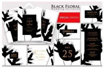 1808126 Black Floral - Invitation Ac.20 2740570 5