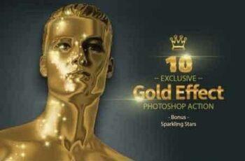 1808137 10 Gold & Sparkling Stars 3465608 10