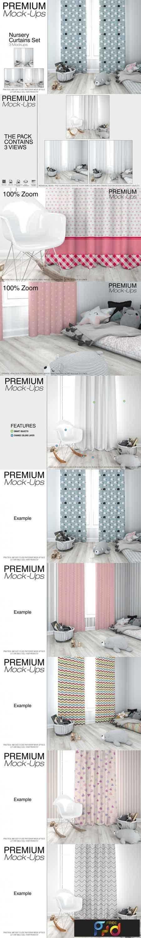 1808140 Kids Room - Curtains Mockup Pack 3468694 1