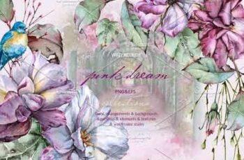 1808146 Pink dream Watercolor set 2737793 7
