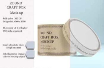 1808148 Round craft box mockup Carton box 3451540 7
