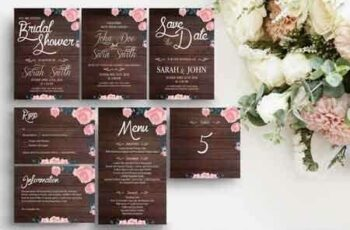 1808150 Rustic Wooden Wedding Template Suite 3469520 5