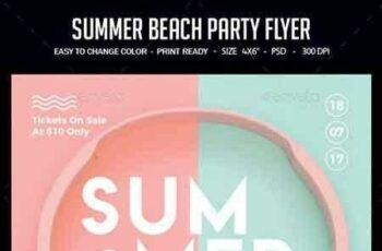 1808160 Summer Beach Party Flyer 22218525 5
