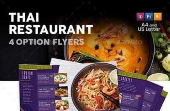 1808162 Thai Restaurant Menu Flyers 5 – 4 Options 22218442 5