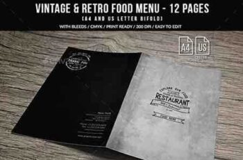 1808164 Vintage And Retro Bifold Menu A4 & US Letter - 12 pgs 20709252 8