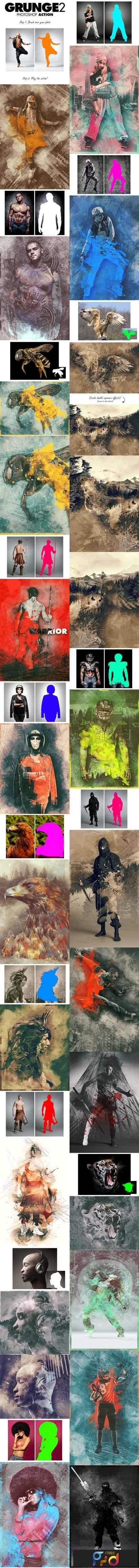 1808175 Grunge 2 Photoshop Action 13630482 1