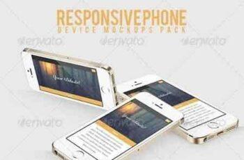 1808178 Responsive Phone Device Mockups Pack 7768623 8